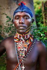 Masai man portrait stock photo