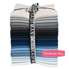 Slate Rock Kona Cotton Solids Fat Quarter Bundle -- my favorite color palette