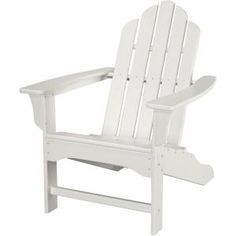 Hanover White All Weather Adirondack Rocking Patio Chair HVLNR10WH