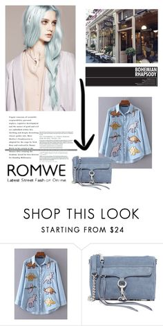 """""""ROMWE"""" by aleksandra15-1 ❤ liked on Polyvore featuring Barker and Rebecca Minkoff"""