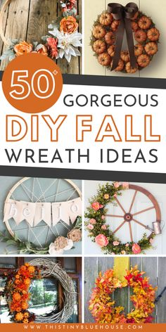 Diy fall crafts 8233211807981113 - Glam up your house this fall with one of these gorgeous best cheap fall wreath ideas. Use dollar store supplies to make a drool worthy front door wreath. Easy Fall Wreaths, Diy Fall Wreath, Fall Diy, Holiday Wreaths, Wreath Ideas, Winter Wreaths, Spring Wreaths, Summer Wreath, Wreaths For Front Door