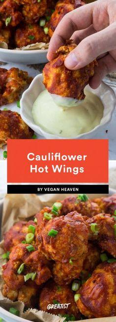 1. Cauliflower Hot Wings