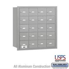 20 Door 4B  Horizontal Mailbox Rear Loading A Doors USPS Access