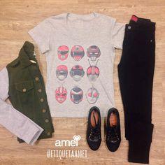 Todo dia é dia de aproveitar faça chuva ou faça sol☀️☔️ #lojaamei #diadosol #jeans #jaqueta #novidades #chicorei #tshirt
