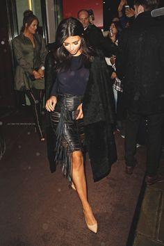 ultimatekimkardashian:  Il Bottaccio, London 11.8.2014.