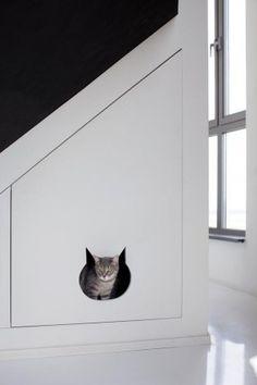 Plekje voor de kat onder de trap [roomed nl]