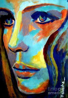 Between Herself and the World - acrylic by ©Helen Wierzbicki (via FineArtAmerica)