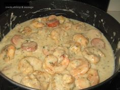 Creole Shrimp & Sausage in Cream Sauce