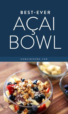Easy recipe for a healthy, delicious breakfast acai bowl. (via @domainehome)