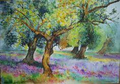 Primavera y olivos en Baena. España. (Vendido)