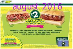 Subway Coupons Ends of Coupon Promo Codes MAY 2020 ! Is a of it's but It private Subway operator selling over 2019 in is restaurant, . Free Printable Coupons, Free Printable Calendar, Free Printables, Online Coupons, Grocery Coupons, Pizza Hut Coupon, Dollar General Couponing, Meatball Marinara, Coupons For Boyfriend