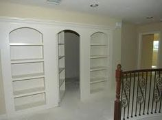 functional book cases and hidden room