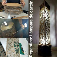 Lámpara de cartón