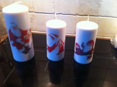 napkins on candles