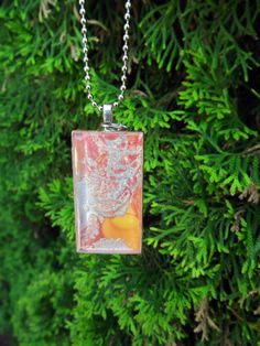 Vibrant and Colorful OrangeSilver and beads by terripoppinscrafts