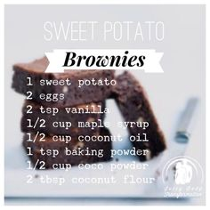 Paleo Sweet Potato Brownies These gluten, sugar, nut and dairy free sweet potato brownies are so incredibly moist and dense! They freeze…