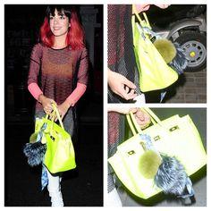 Lily Allen Pom Pom fendi style keyring www.pompompoodle.com Faux Fur Pom Pom 40747885c
