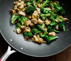 Low Fat Chicken Breast & Broccoli Stir Fry   just made this for dinner! Substituted the olive oil for coconut oil & used champagne white vinegar instead of rice vinegar