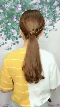 Front Hair Styles, Medium Hair Styles, Easy Hairstyles For Long Hair, Girl Hairstyles, Hair Style Vedio, Hair Tutorials For Medium Hair, Stylish Hair, Hair Videos, Hair Looks