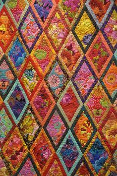 Kaffe Facett quilt pattern.