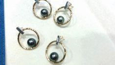 Tahitian Pearl Earrings, Tahitian Pearls, Pearl Stud Earrings, Pearl Studs, Sterling Silver Earrings Studs, Women's Earrings, Pearl Necklace Designs, Anniversary Jewelry, Jewelry Gifts