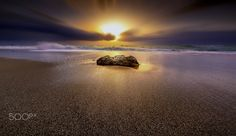 The golden rock - Sunrise at Rhodes. Photography by panagiotis laoudikos