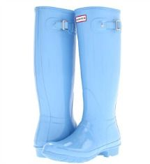 Hunter blue rainboots