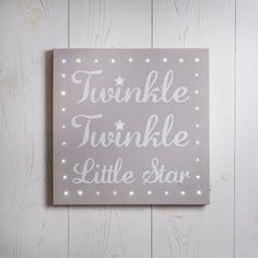 Twinkle Twinkle Little Star Light Up Canvas