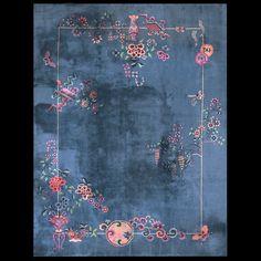"Chinese Art Deco Rug 中国装饰艺术风地毯 8'-8"" x 11'-3""   #22180"
