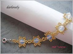 Golden Snowflake Moonstone Bracelet