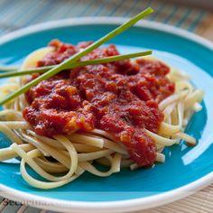 Pasta con salsa amatriciana - Secocina