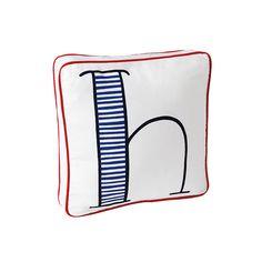 Schoolhouse Letter Pillow – Cobalt/Navy | Serena & Lily