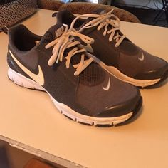 Grey Nike shoes Very comfy shoes! Wore them twice! Like new condition! Nike Shoes