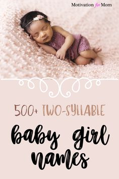 This list has over 500 ideas for two syllable girl names that are short and sweet and easy to fall in love with. Some of these are common baby girl names, and some of these are unique baby girl names. Whether you are looking for first names or middle names for your baby girl, this list will give you plenty of ideas for two syllable baby girl names! Unique Girl Middle Names, Unusual Baby Names, Unique Baby, Two Syllable Girl Names, First Time Pregnancy, Gender Neutral Names, Earliest Pregnancy Symptoms, Baby Name List, Newborn Essentials
