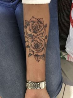 Why do I Love Rose Tattoos Soo much! Forarm Tattoos, Dope Tattoos, Wrist Tattoos, Pretty Tattoos, Beautiful Tattoos, Flower Tattoos, Body Art Tattoos, Small Tattoos, Sleeve Tattoos
