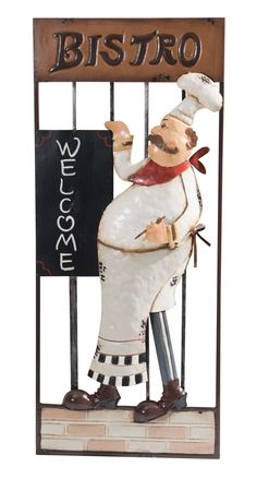 Personalized Fat Chef Bistro Kitchen Decor Clock Gift Fat Chef Kitchen D Cor Pinterest Bistro Kitchen Decor Bistro Kitchen And Clocks