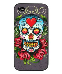 Look what I found on #zulily! Gray Sugar Skull Case for iPhone 4/4s by CafePress #zulilyfinds