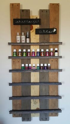 Essential Oil Shelf - Personalized for me