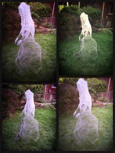 ghosts in the garden by amanda erickson chicken wire ghosts halloween