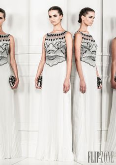 Zuhair Murad - Prêt-à-porter - Primavera-Verão 2014 - http://pt.flip-zone.com/fashion/ready-to-wear/fashion-houses-42/zuhair-murad-4209