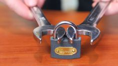 Mr. Gear demonstrates how to quickly force open a padlock using a pair of nut wrenches, which could be useful in situations where you lost the key.