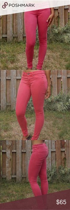 RICH & SKINNY Red Skinny Jeans RICH & SKINNY Skinny Jeans  RICH & SKINNY Skinny Jeans  Color is a reddish pink color Size 26 Skinny jeans 42% Lyocell 33% cotton 15% rayon 9% polyester 1% spandex Rich & Skinny Jeans Skinny