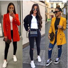 Cute Outfits With Jeans, Cute Comfy Outfits, Casual Fall Outfits, Winter Fashion Outfits, Trendy Outfits, Blazer Outfits, Blazer Fashion, Look Blazer, Adidas Outfit