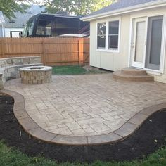 Stamped Concrete Design Ideas i like the impressed concrete curved walkway and the garden treatment it really pulls the Patio Stamped Concrete Patio Design Ideas Pictures Remodel And Decor