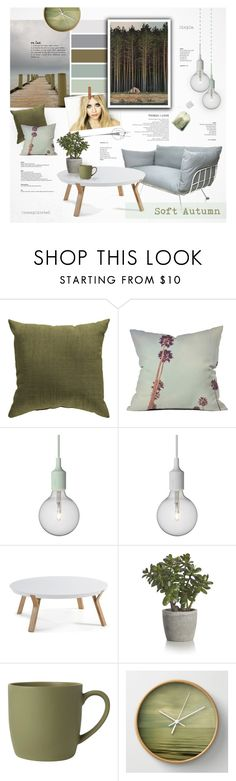 """""""Soft Autumn: Tranquility"""" by nyrvelli on Polyvore featuring interior, interiors, interior design, home, home decor, interior decorating, Olsen, Surya, Dot & Bo and Muuto"""