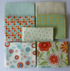 Cotton Fabric,Quilt~BLOCK PARTY by Moda~17810AB~Fat Quarter Bundle of 7~ Group #4~Fast Shipping FQ226
