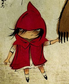 Little Red Riding Hood & the Great Big Grizzly (detail)