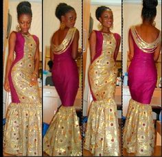Resultado de imagem para nigerian ankara bridesmaid dresses