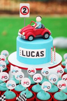 Disney Pixar cars smash cake and cupcakes SMASH CAKES by Little