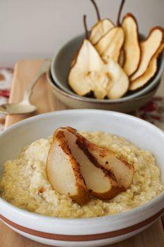 Roasted Cinnamon Pear 'Oatmeal' – {AIP} – Healing Family Eats